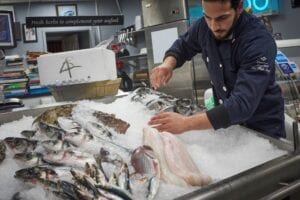 Fishmongers are at the end of the supply chain and therefore rely on processing as well as fishing to supply their products. Credit: Seafish